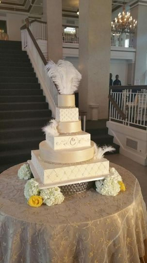 Champagne and Ivory Cake