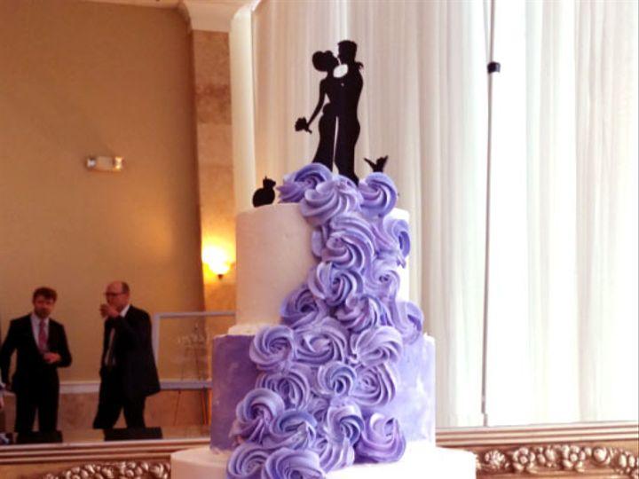 Tmx Cascading Rosettes Purple 51 5474 Marietta, Georgia wedding cake