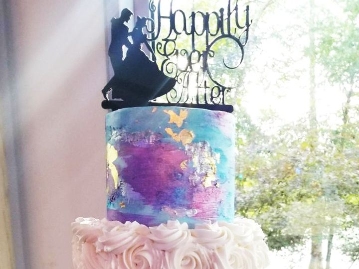 Tmx Lynn Chanin Bc Watercolor 51 5474 Marietta, Georgia wedding cake