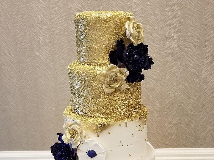Tmx Melting Gold 51 5474 Marietta, Georgia wedding cake