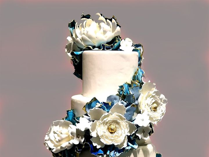 Tmx Turquoise Spiral 51 5474 Marietta, Georgia wedding cake