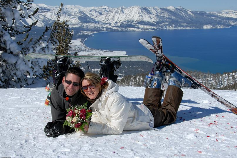 wedding on skis