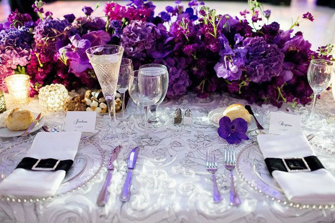 Tmx 1467914153880 Purple Head Table Evantine Design Wedding Flowers Philadelphia, Pennsylvania wedding venue