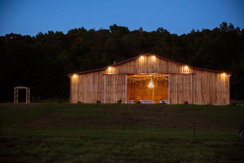 The barn at dusk