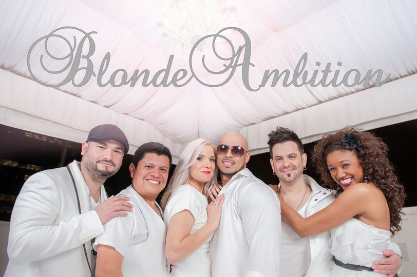 blonde ambition close up white prom