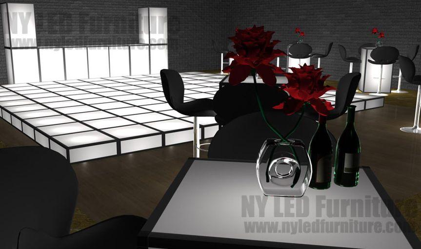 LED Furniture Rental for Weddings and Events. LED Dance Floor, LED Cocktail Tables, Bar Stools, LED...