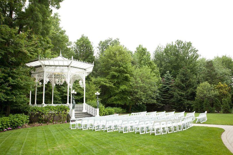 Sample wedding setup