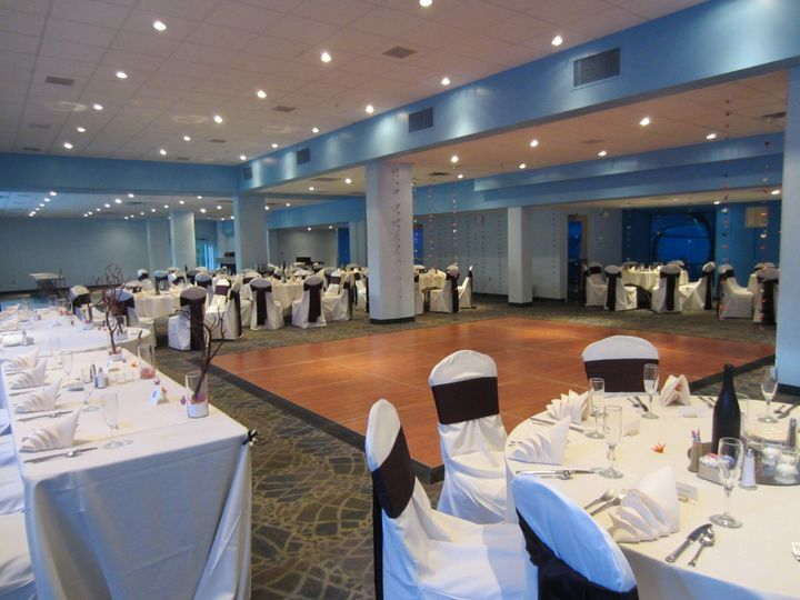 The Dolphin Gallery set for a wedding reception!