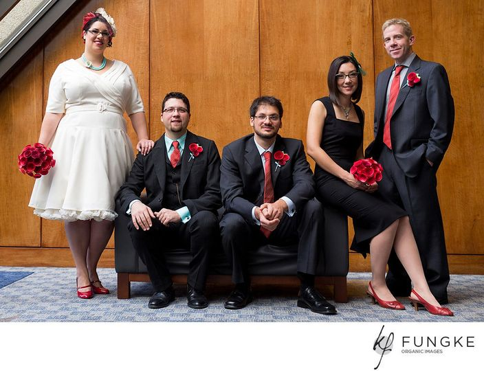 Red ombre bouquets!  Photo courtesy of Fungke Photography.
