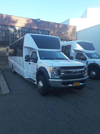 Wedding shuttle bus