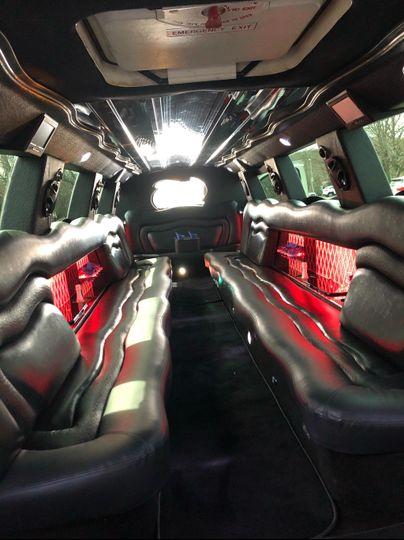 Interior of 18-passenger Escalade