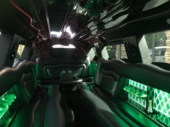 18 passenger Escalade interior