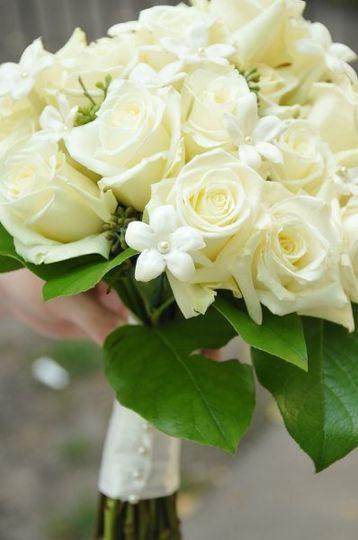 Elegant and Classic Stephanotis and Rose Bouquet