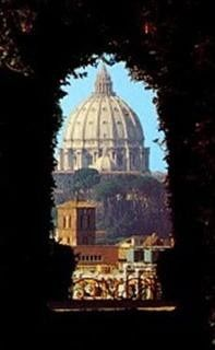 vatican image through opening wince
