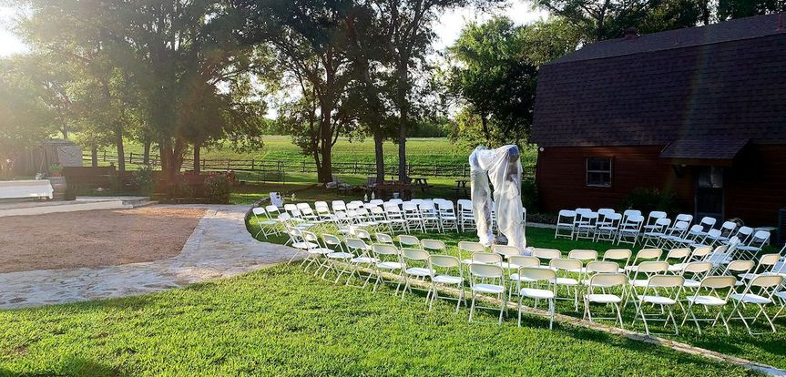Circle wedding setup