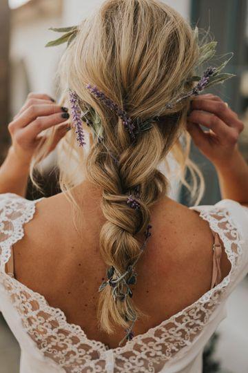 Braid w/ lavendar