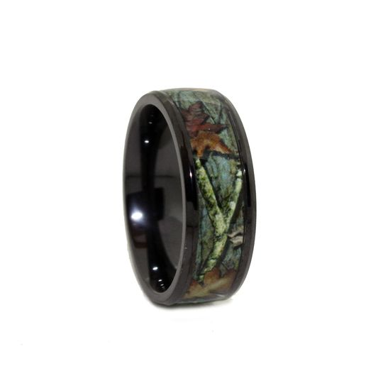 8c100bti black titanium camo wedding rings