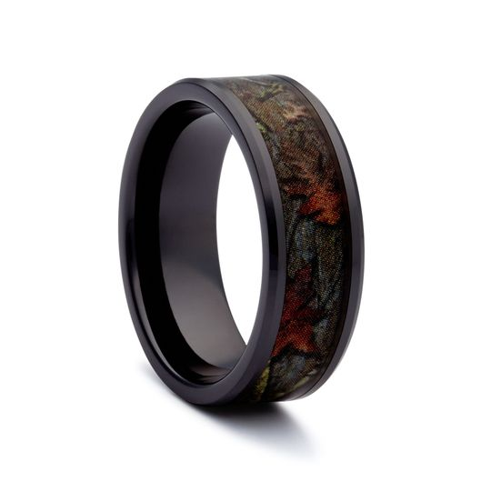 black camo wedding ring black camo band
