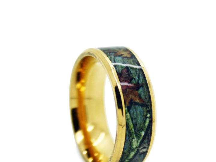 Tmx 1464027973018 8c100gt   Gold Camo Wedding Ring   Bevel Titanium  Tilden wedding jewelry