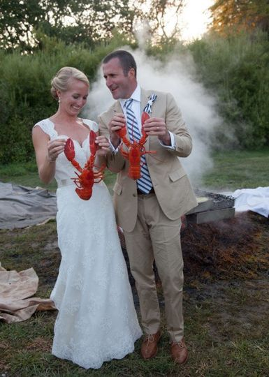 maria and andrew with lobsters maaike bernstrom