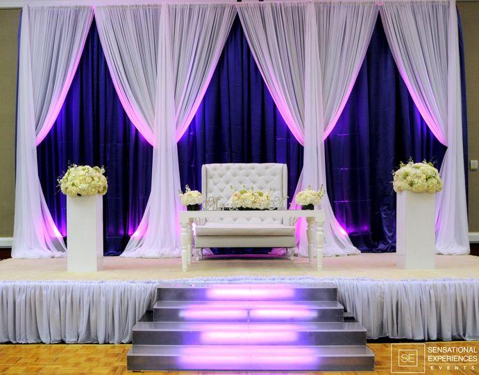Stage setup and lighting