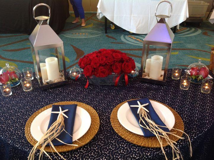 Sea themed head table