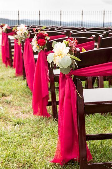 Red Chiffon Chairs