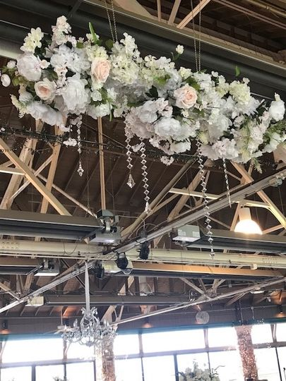 Hanging Flowers and Crystal