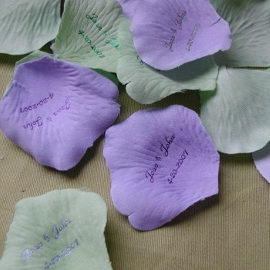 Personalized flower petals in colors to match any wedding or celebration..with YOUR names or...