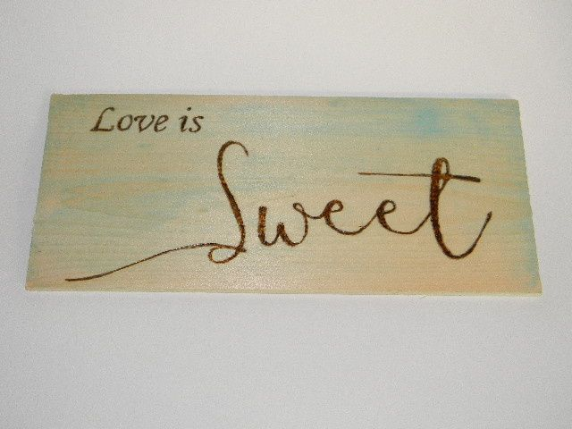 Love is Sweet Candy bar sign