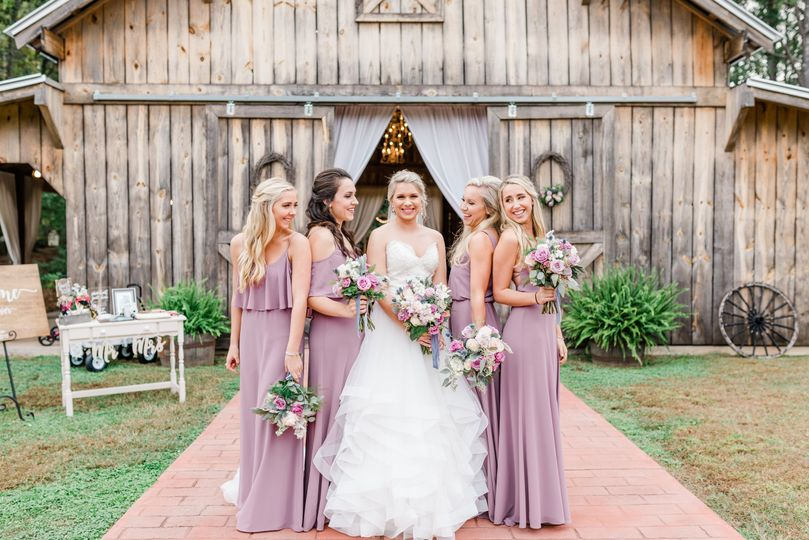Bride with her bridesmaids | Virginia Greene Photography