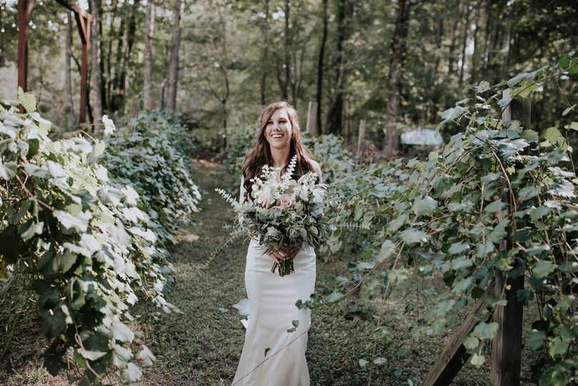 Bride in the garden | Connie Marina Photography