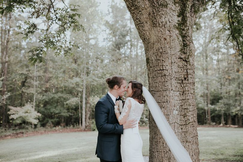 Newlyweds about to kiss | Connie Marina Photography