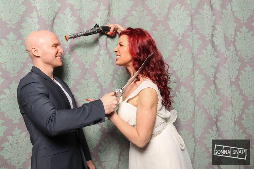 Wacky couple shot