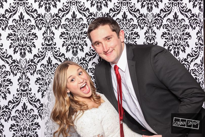 Couple shot with backdrop