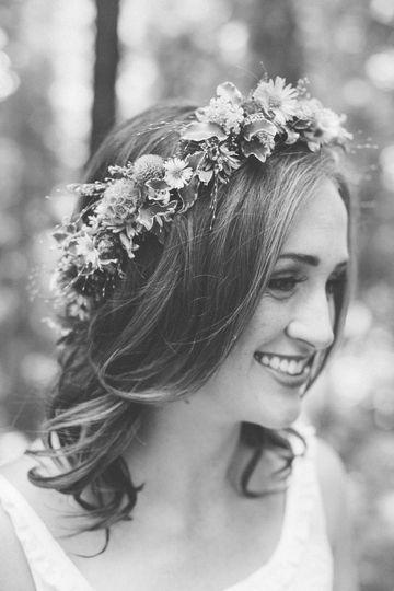 A boho bride in Mendocino