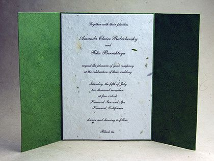 Emerald green invitation