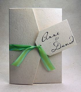Green ribbon envelope