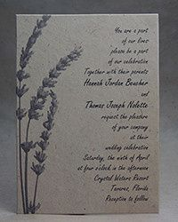 Lavender invitation decor