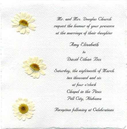 Tmx 1328640602970 6x6invitationdaisy Seattle, Washington wedding invitation