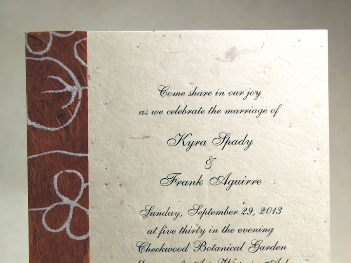 Tmx 1389816130697 5x7 Cut Invitation With Strip Seattle, Washington wedding invitation