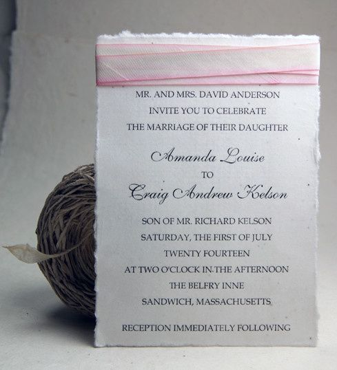 Tmx 1389817269489 5x7invitationsilkribbonseedpape Seattle, Washington wedding invitation