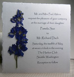 Tmx 1389817284442 Cottonseedpaperinvitation6x6purplelarkspurs Seattle, Washington wedding invitation