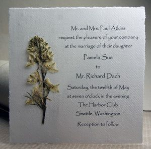 Tmx 1389817286389 Cottonseedpaperinvitation6x6whitelarkspurs Seattle, Washington wedding invitation