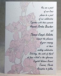 Tmx 1486165911789 Larkspurpinkfadedinvitationbirchsm Seattle, Washington wedding invitation