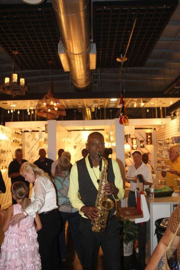 Saxophone music help make the event great!