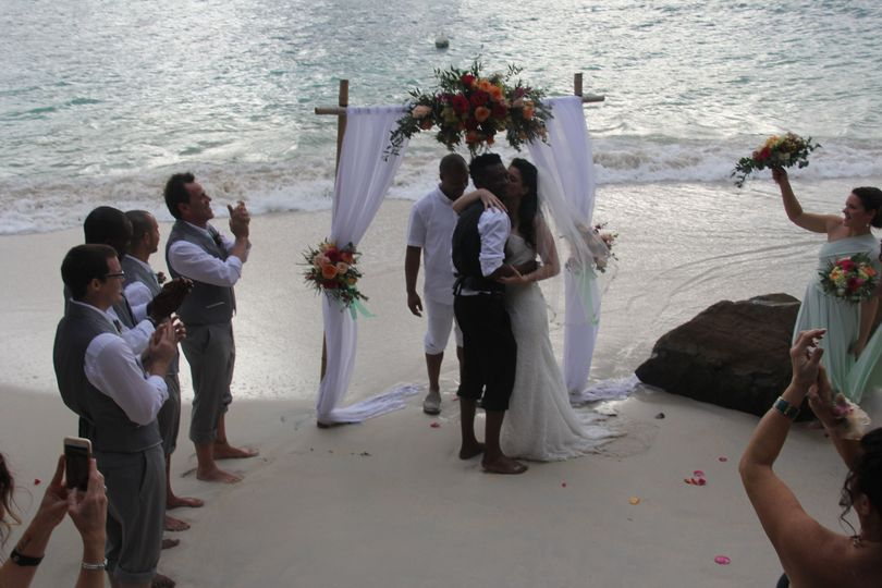 Beach Wedding Destination Wedding St Thomas Magens Bay Sand Dollar Villa