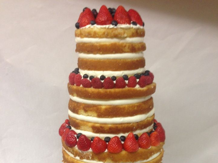 Tmx 1414420318317 Naked Wedding Cake With Berries Valley Cottage wedding cake
