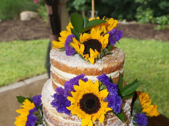 Tmx 1414420337120 Naked Wedding Cake1 Valley Cottage wedding cake