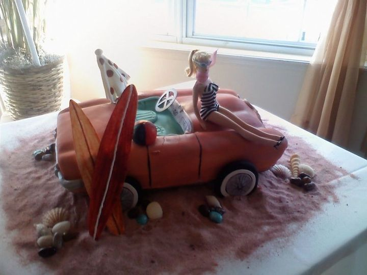 Tmx 1414422388738 Barbie Car Valley Cottage wedding cake